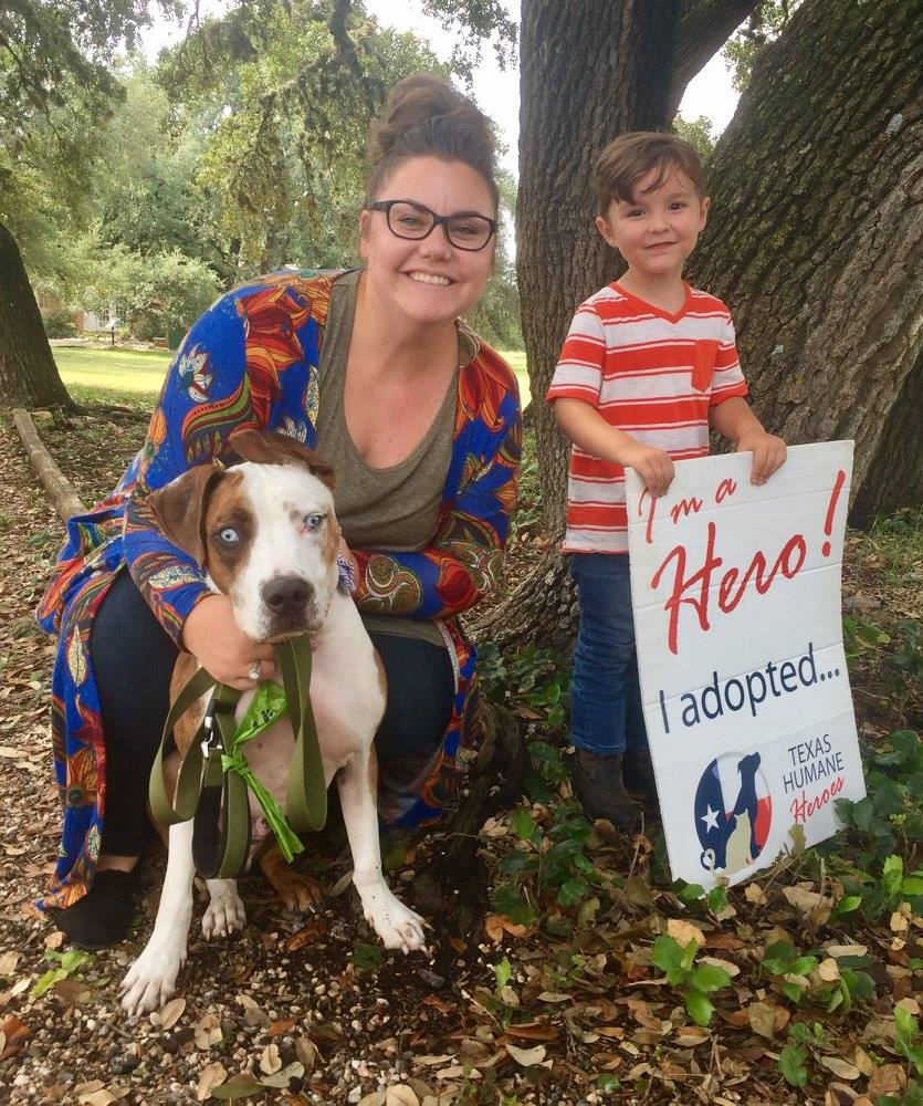 Texas Humane Hero Frankie adopted